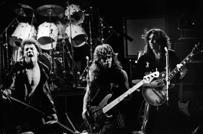 Photo of Dennis STRATTON and Steve HARRIS and Paul DI'ANNO and IRON MAIDEN