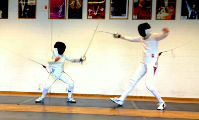260413 Bruce Dickinson fencing Bartosz Piasecki Oslo Photo Andreas Tylden
