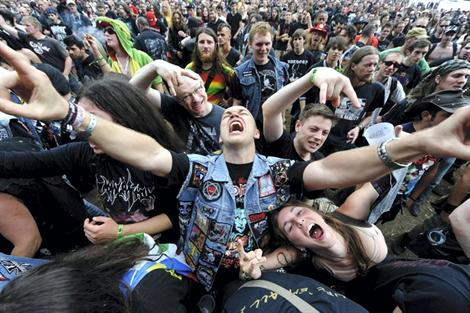 Crowd craziness. Hellfest 2013.