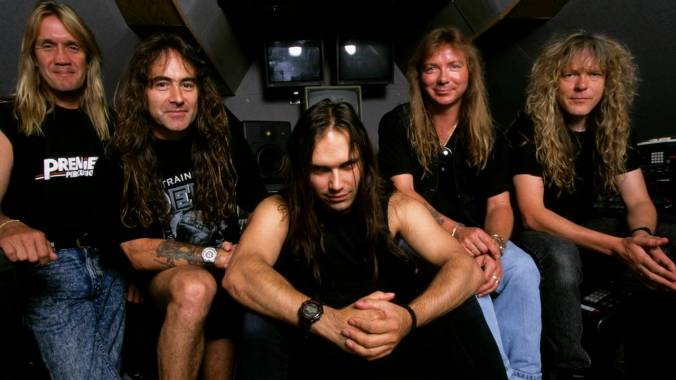 Photo of Blaze BAYLEY and Dave MURRAY and IRON MAIDEN and Nicko McBRAIN and Steve HARRIS and Janick GERS